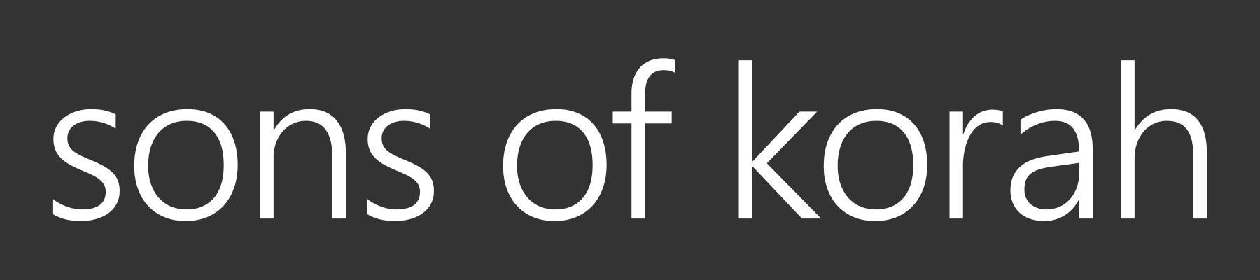 Home - Sons of Korah